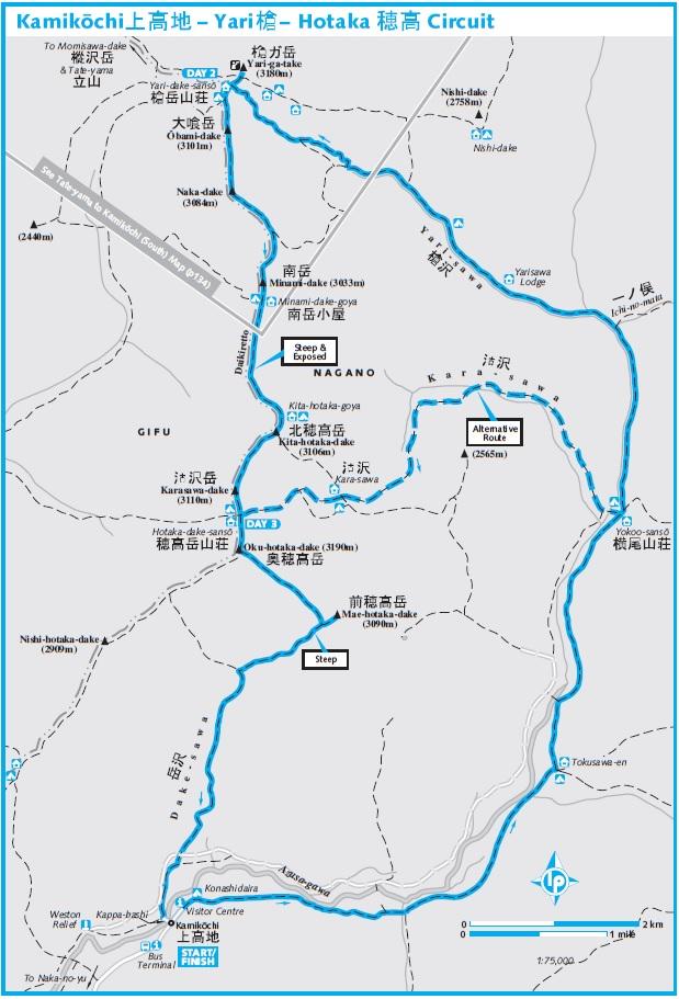 Kamikochi map