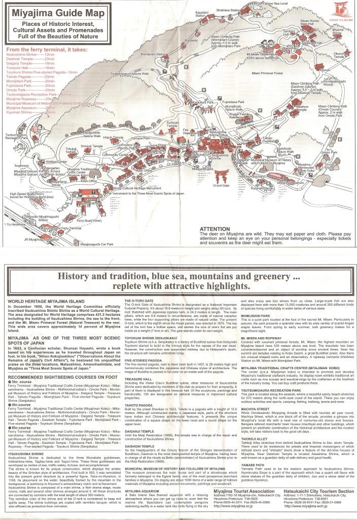 Miyajima guide map