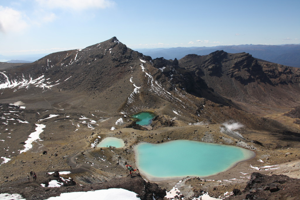 Tongariro Alpine Crossing. Novy Zeland severny ostrov